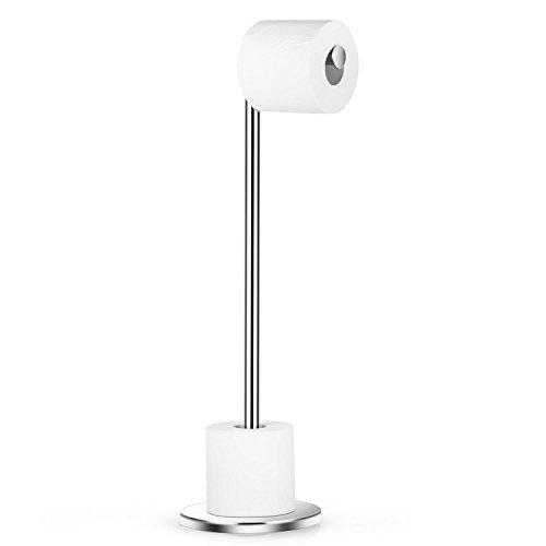 Maycho Stehend Toilettenpapierhalter Edelstahl Ohne Bohren, Ersatzrollenhalter Platzsparend, Für 5 Toilettenpapierrollen, 54,5 cm Höhe