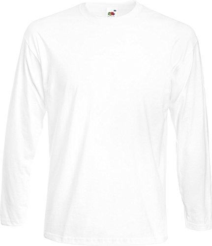 Fruit Of The Loom Super Premium T Shirt Long Sleeve durchführen, weiche Haptik Garantie Schwarz - Schwarz