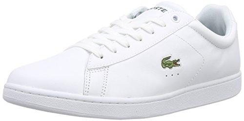 Lacoste Carnaby Evo LCR, Herren Sneakers, Weiß (Wht 001), 43 EU (9 Herren UK) (Schuhe Weiss Herren Leder)