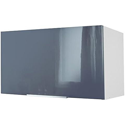 Berlenus CH6HG - Mueble alto de cocina para cubrir la campana (60 cm), color gris brillante