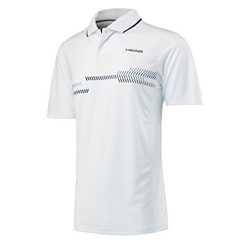 HEAD Technisches Poloshirt für Herren L Weiß/Navy