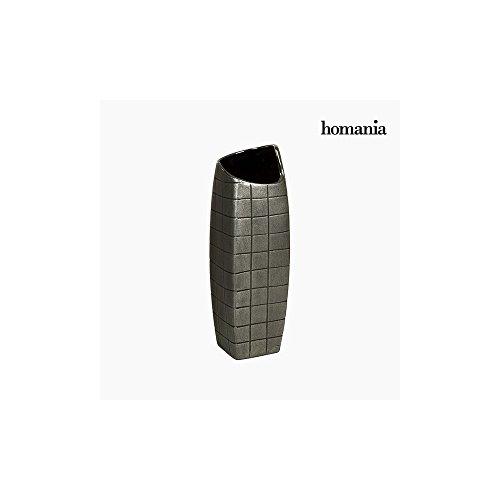 Vase Céramique Argent (13 x 13 x 41 cm) by Homania