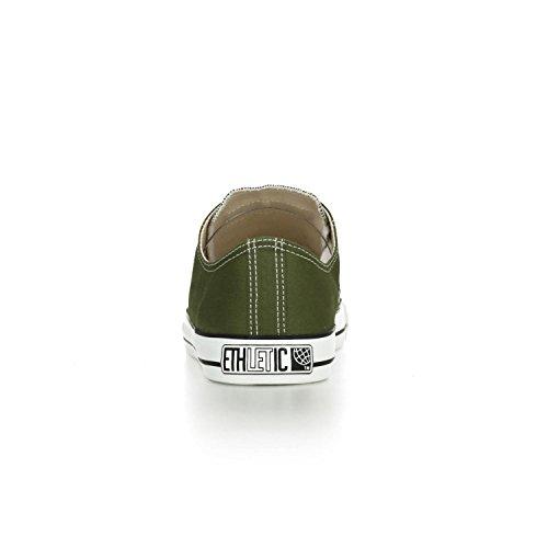 Ethletic Sneaker LoCut – camping green / white – nachhaltig, fair & vegan - 4