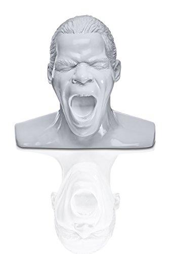 Oehlbach Kopfhörerständer Scream - Handmade, Kunstharz, Weiß - kultiger Oehlbach-Kopf zur Aufbewahrung von Over- und On-Ear-Kopfhörern