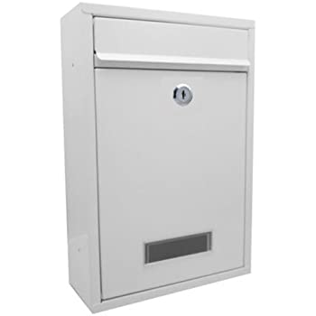 H D W ABN Finest Wall Mounted Outdoor Mailbox Postbox Letterbox Outside Large Mail Post Letter Box Size 32cm x 8cm x 22cm