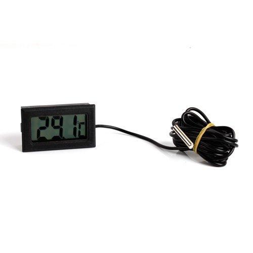 SPEED Mini Digital Thermometer Temperatur Messer LCD -50°bis +110°2m Schwarz 280204