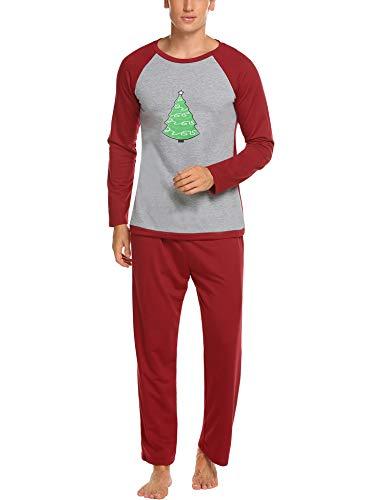 Balancora Weihnachts Schlafanzug Familie Outfit Weihnachten Set Für Damen Herren Kinder Mädchen Jungen Baby Pyjamas Langarm 2Pcs Set