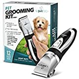 PetTech Professional Dog Grooming Kit - Rechargeable, Cordless Pet Grooming Clippers & Complete Set of Dog Grooming Tools. Low Noise & Suitable For Dogs, Cats and Other Pets