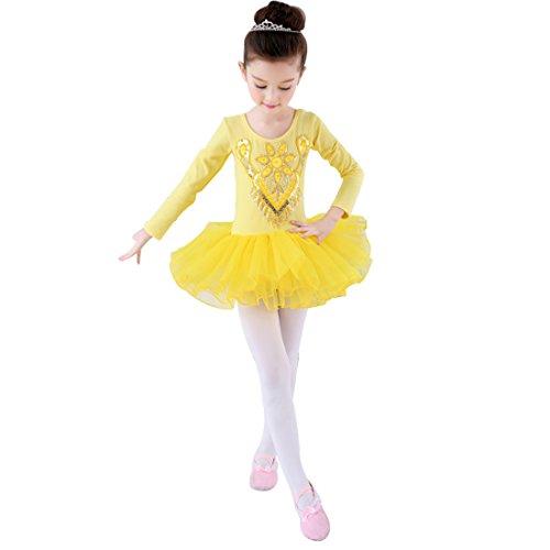 Huicai Mädchen Ballett-Kostüm Langärmelige Kleidung Strumpfhosen Latin Jazz Dance - Latin Jazz Dance Kostüm