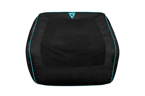ThunderX3 DB5C - Puff Gaming Profesional (Cuero sintético, Tela Spandex, Tela Premium, flexibilidad, Triple Costura, Resistencia, Cremalleras Dobles, Relleno no Incluido) Color Negro y Cyan