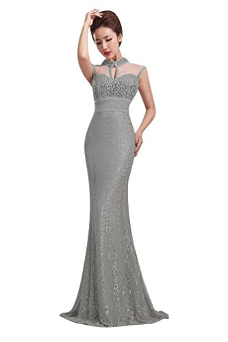 Beauty-Emily Damen Kleid Grau - Grau