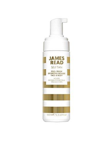 JAMES READ Einfach zu verwendende Gesichts- und Körperbräunungscreme 200 ml Instantbräunung, BRIGHT / MEDIUM, Bräunung entwickelt sich in 6 bis 8 Stunden, Bräunung dauert bis zu 7 Tage