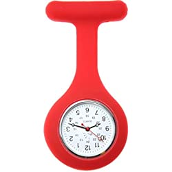 Nurses Silicone Gel Fob Watch in Red