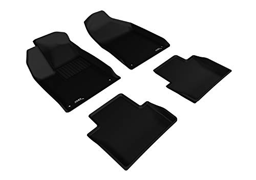 3d MAXpider All 2 Row Custom Fit Floor Mat for select 200 models - cagou Rubber (Black)