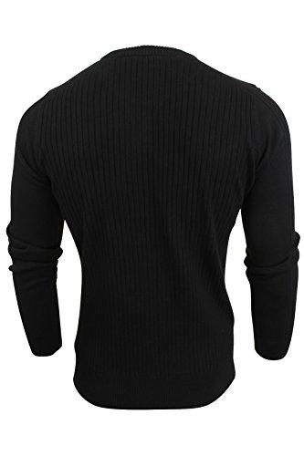 Pull côtelé avec bordures t-shirt par Dissident pour homme Noir