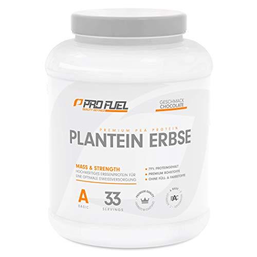 PLANTEIN ERBSE | Vegan Protein • Pflanzliches Premium Eiweißpulver aus gelben Erbsen | High Protein | Cremig & Lecker | Made in Germany | 1kg - CHOCOLATE (Schokolade)