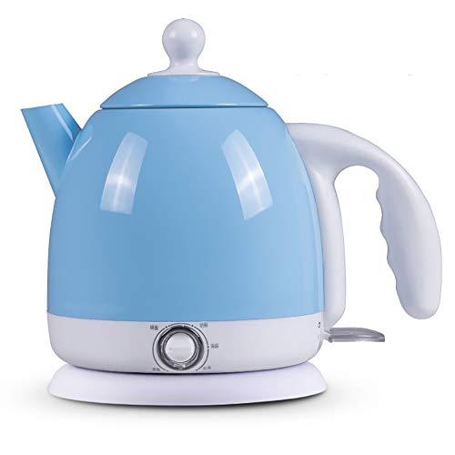 Electric kettle Multifunktions-Wasserkocher, kabelloser Wasserkocher, Netzkabel-Aufbewahrungssockel und Anti-Pull-Design, Trockenlaufschutz, einfache Handhabung ohne Abschaltung,Blue -