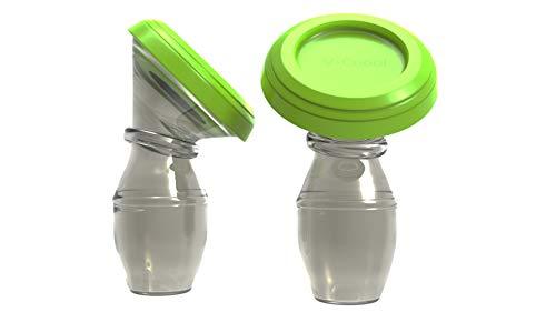 Tiralatte in silicone - raccogli latte materno manuale con coperchio salva-latte materno per allattamento manuale. Ventosa raccogli-latte. Pompa di aspirazione latte materno