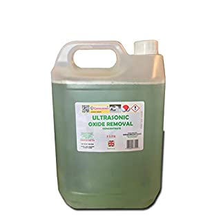 Ultrasonic cleaning fluid solution oxidation remover 5lt concentrated fluid removes oxidation and rust 5 litre