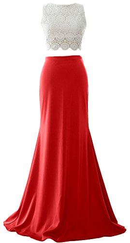 MACloth - Robe - Boule - Sans Manche - Femme Rouge