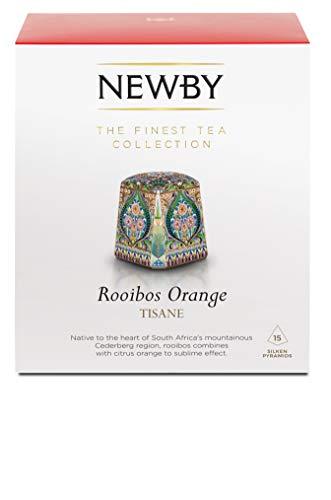 Newby Teas Silken Pyramids Rooibos Orange Tea 38 g (Pack of 1, Total 15)