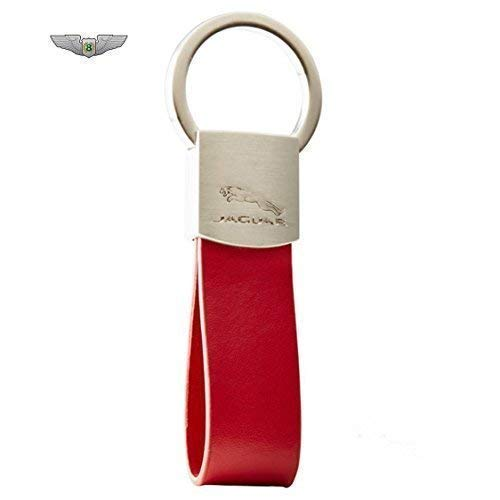 Preisvergleich Produktbild Jaguar Neu Leder Schlaufe Schlüsselanhänger Rot 50JKRALLKR