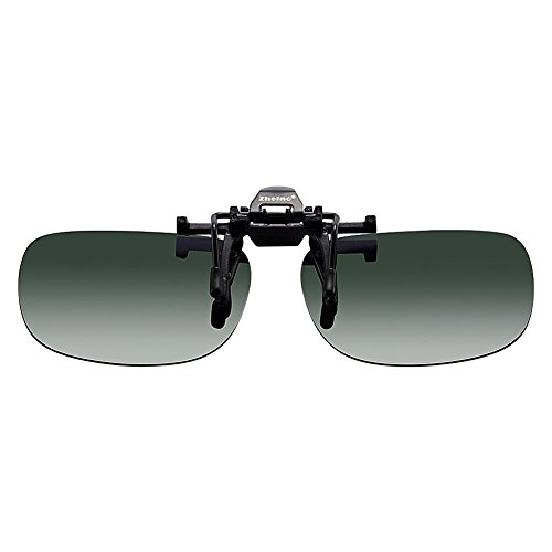 Zheino 1909 One-piece Sonnenbrillen-Clip Polarisierende Flip Up,UV 400 Sonnenbrille Brillen Aufsatz Clipon Clip On's Brille Sonnenbrillen,Sonnenbrillen-Clip für Brillenträger (Schwärzlichgrün)