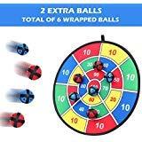 BETTERLINE Stoff und Klett Dartscheibe Spiel mit 6 Klettbällen 37 cm Durchmesser   Sicher für Kinder