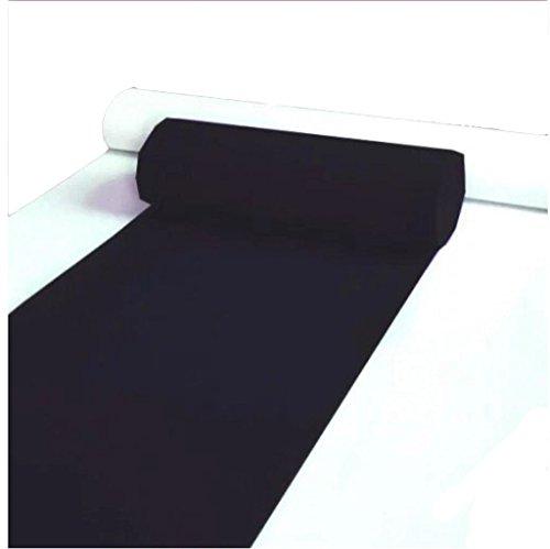 Hochzeit Teppich für Hotel Opening Party Themen-Events Ausstellung Einmalig rutschfest über 2mm dicken Teppich schwarz (größe : 1m×30m)