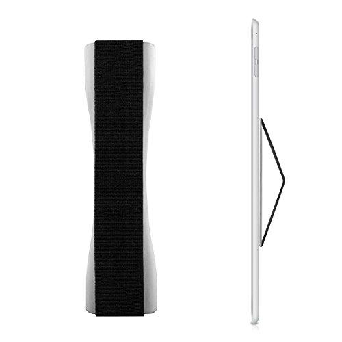 kwmobile Tablet Fingerhalter Griff Halter - Selbstklebende Tablet PC Fingerhalterung - Finger Halter für z. B. iPad Samsung Sony Tablets Silber