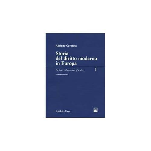 Storia Del Diritto Moderno In Europa: 1