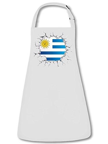 Fan Delantal Uruguay Delantal, delantal con cuello ajustable VERS. Colores golebros