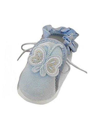 Ikumaal Festlicher Schuh Für Taufe Oder Hochzeit - Taufschuhe Für Baby, Babies, Mädchen, Jungen, Kinder, in Verschiedenen Größen 16-19, Tp22 Blau, 16 EU