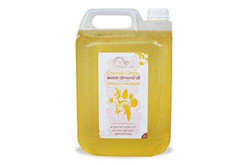 5 Liter 100% Pure, COSMETIC GRADE, kaltgepresstes Süsses Mandelöl (5 Liter)