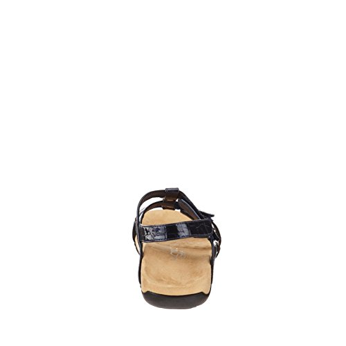 Vionic Amber - Womens Slide Sandal - Orthaheel Navy - 10 Wide Navy Croco