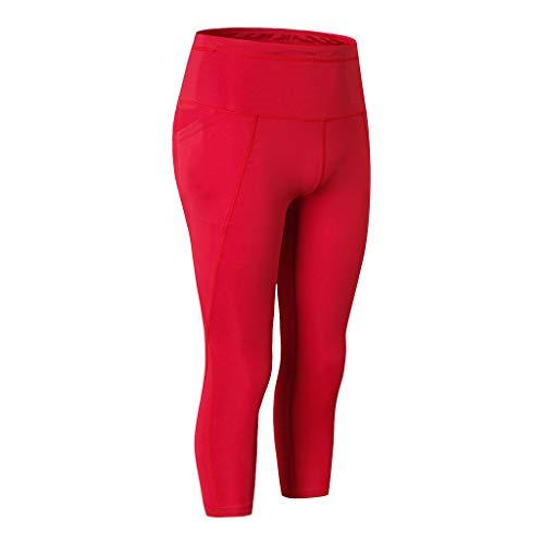 Mymyguoe Pantalones de Yoga de Secado rápido y Bolsillo Leggings Deporte Mujeres Yoga Pantalones Mallas Deportivos Leggings Cintura Alta Push up