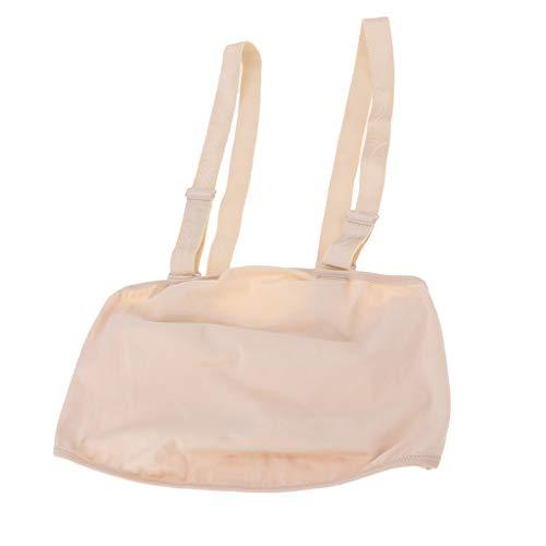Hellery Baumwolle Tuchbeutel für Babybauch Schwangerschaft Künstliche Silikonbauch Bauch Kostüm - Normale Haut, L