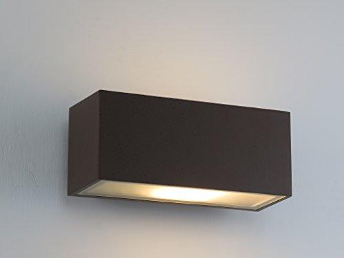 Plafoniere Da Giardino Prezzi : Applique lampada parete per esterno moderno marrone rettangolare