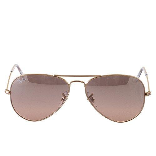 Ray Ban Unisex Sonnenbrille Aviator, Gr. Large (Herstellergröße: 55), Gold (gold 001/3E)
