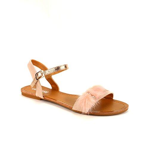 Cendriyon, Sandales Rose LAURANA Chaussures Femme Rose