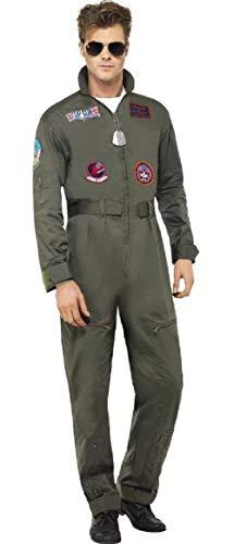 Top 80er Kostüm Jahre Gun - Herren-Jumpsuit aus Top Gun. Pilotenkostüm, 80er-Jahre-Kostüm