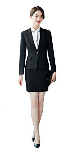 f0449a433a78 SK Studio Damen Business Anzug Set Slim Fit Klassischer Taillierter Elegant  Blazer und Hosen Rock Anzug