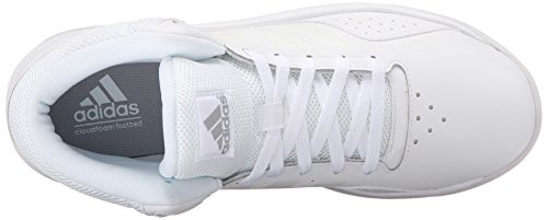Adidas Performance Cloudfoam Ilation Mid Basketballschuh, schwarz / metallic silber / weiÃ?, 6,5 M U White/White/Clear Onix Grey
