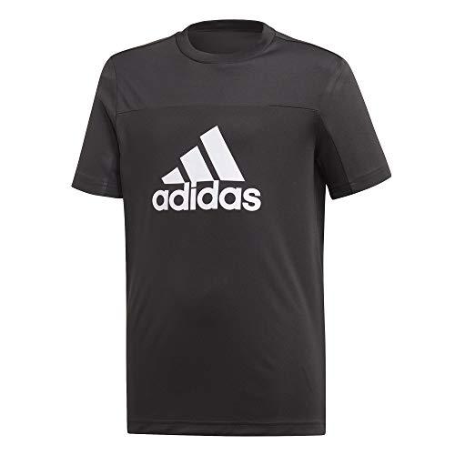 Tr-t-shirt Tee (adidas Jungen YB TR EQ T-Shirt, Black/White, 13-14 Years)