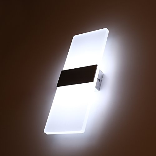 Topmo 12W Lampada da parete a LED applique ideale per Camera da ...