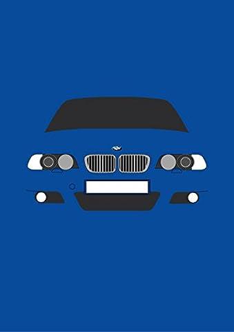 BMW E46M3–Retro Motor Company Grußkarte