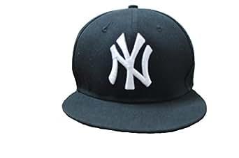 Xi 13 Colors Unisex Adjustable New York Sport Flat Brim Hip-hop Cap (Black)