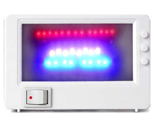 M&H-24 LED TV-Simulator, Fernseh-Atrappe Fake-Fernseher Attrappe Dummy, Einbruchschutz durch Licht-Simulation, Home-Security mit 37 LED's