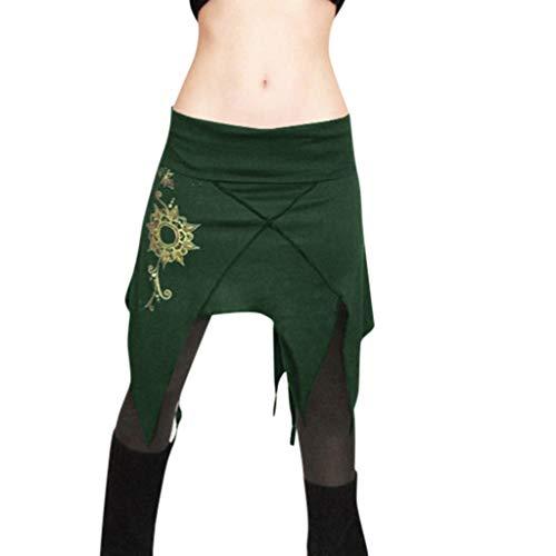 Kostüm Dorothy Größe Spaß - TYTUOO Damen Rock Fashion Wrap Bestickte Minirock Ragged Rock Cosplay Quasten Cosplay Kleider