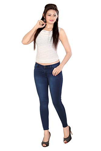CHANNEL-F-Womens-Ankle-Length-Blue-Tint-Jeans